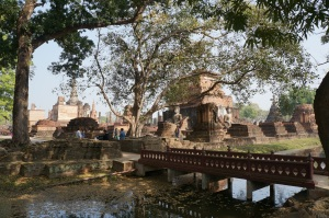 Some of the ruins in the old city where they led the Sukhothai kingdom.