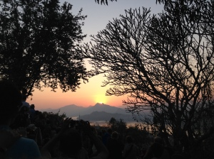 Beautiful Sunset at Mount Phousi