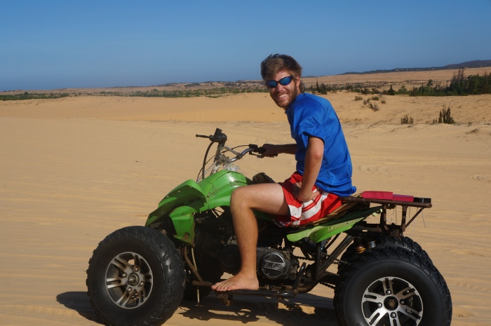Brian cruising around on the dunes!