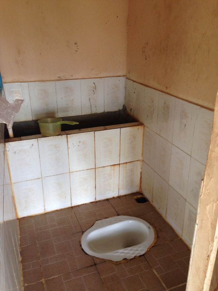 Pretty typical southeast Asian hole in the ground (toilet)