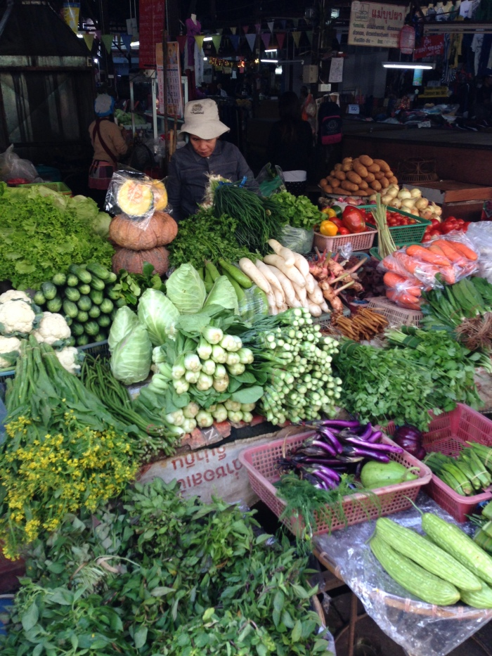 Local market in Chang Mai, Thailand.