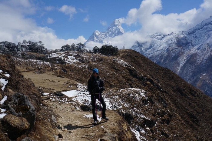 Acclimatization hike above Namche Bazaar.  Ama Dablam (22,493 ft) in the background.