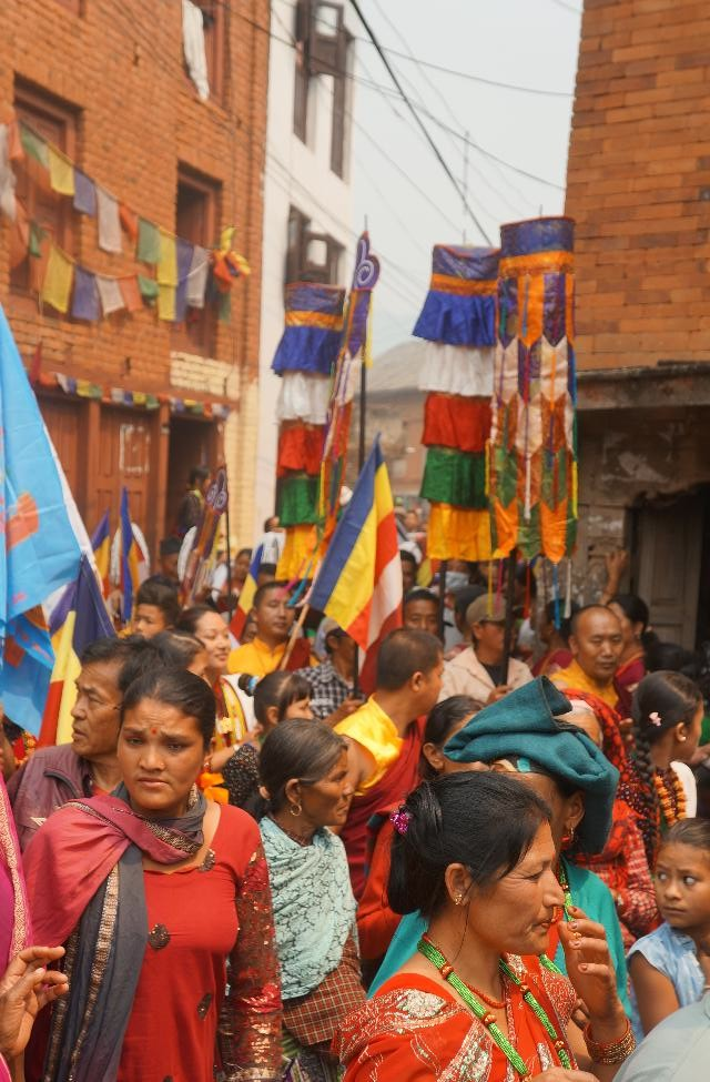 Part of the new years day parade in Bandipur.  We eventually followed them into the carnival-like celebration.