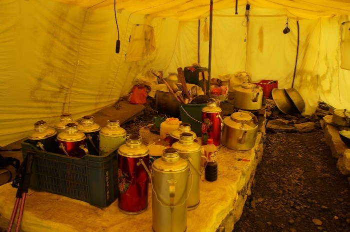 In case you were wondering what a kitchen looks like at Base Camp