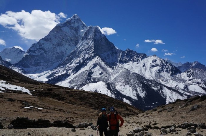 En route to Thukla with Ama Dablam behind us