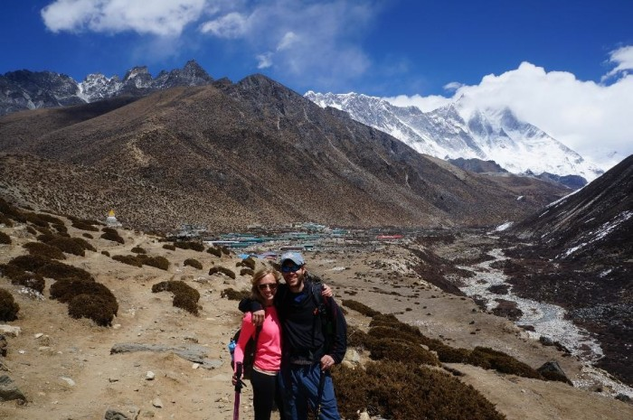 Dingboche directly behind us