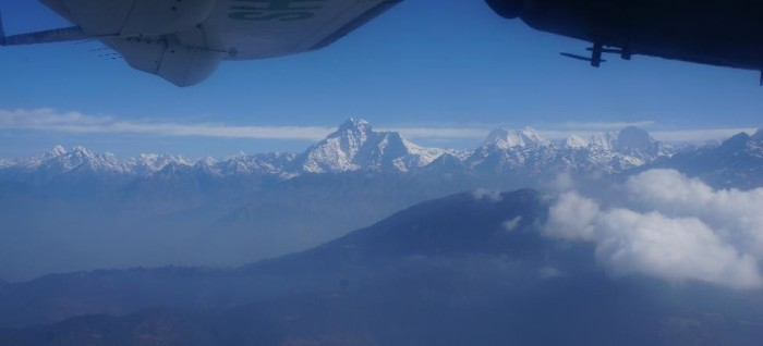 The Himalayas rise up out of nowhere