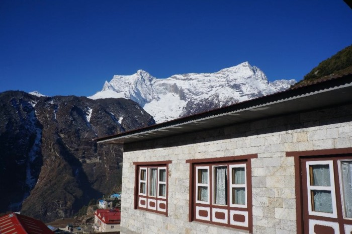 View of Kongde Ri (20,300 ft) from our guesthouse