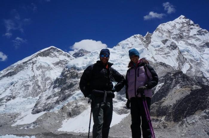 Peaks (L to R) - Lola, Everest, Lhotse, Nuptse