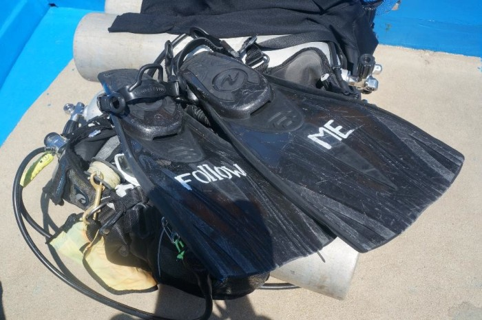 Our dive master's fun fins!