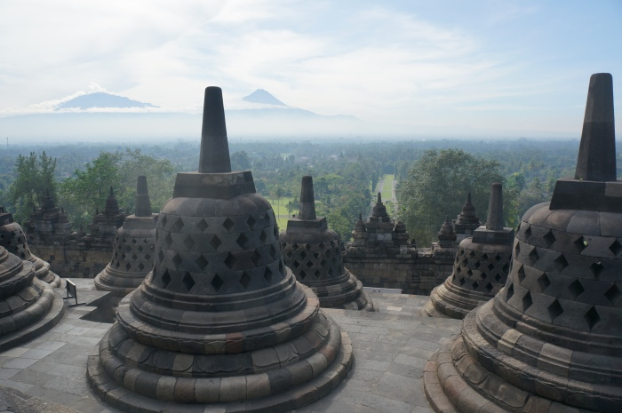The top platform of the Borobudur signifies attaining Nirvana.