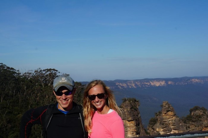 The Three Sisters rock formations at the Blue Mountains.