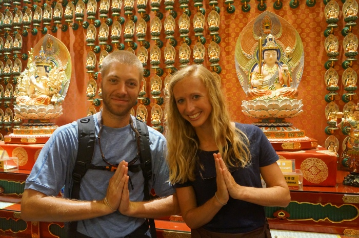 At the Buddha Tooth Relic Temple, we learned that we are the Chinese Zodiac Year of the Ox and Year of the Tiger.