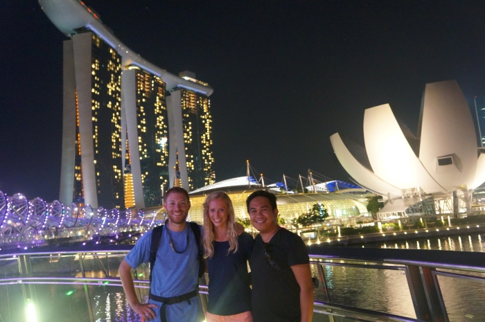 The beautiful Marina Bay Sands hotel and the ArtScience Museum behind us.