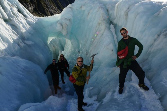Franz Josef crew.  Although it may not look the case, thankfully no one was hurt here.