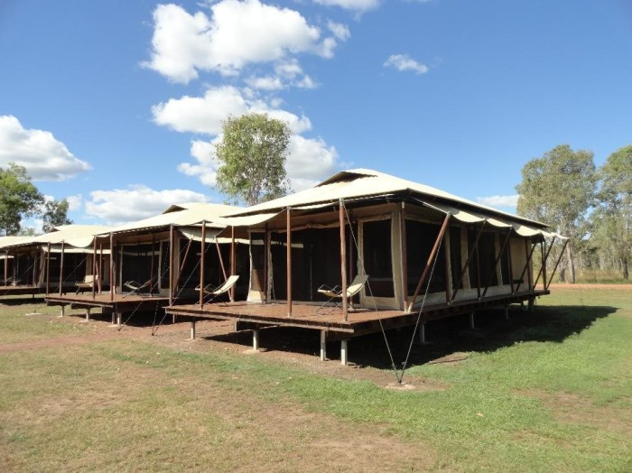 Our camping quarters in the outback.