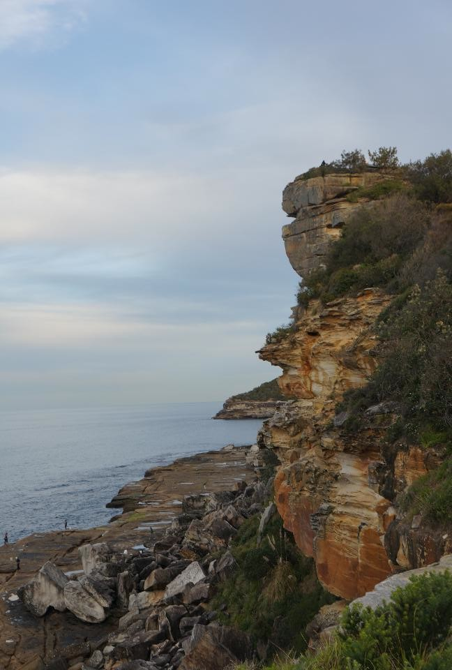 Unique, rugged cliffs near Manly beach.