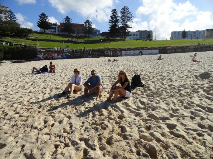 After a short trip, we found the beautiful Bondi beach.