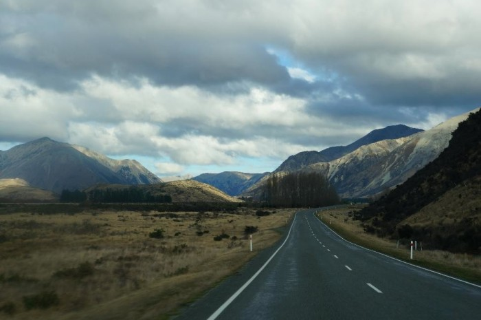 Driving near Arthur's Pass