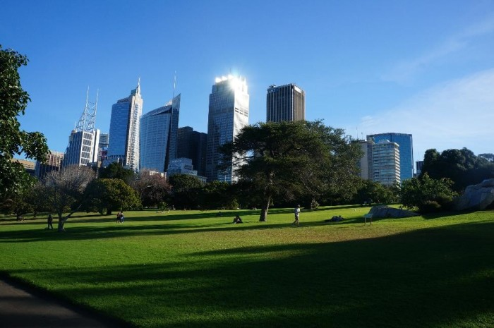 Park near the central business district where Aussies get their rugby on.
