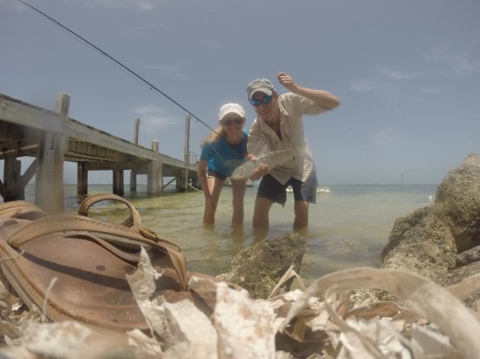 Alison's first bonefish!