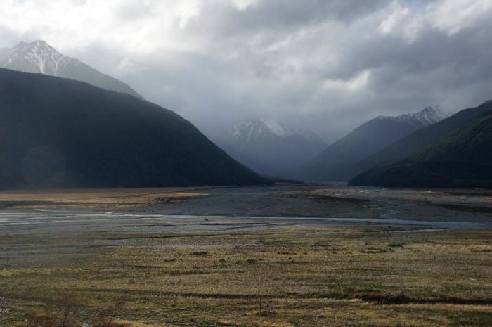 Arthur's Pass had some spectacular natural beauty and no one around