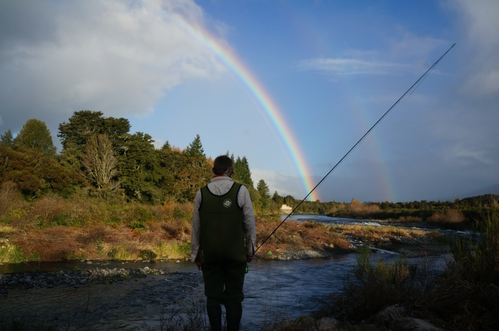 Double rainbows over the famous Tongariro River