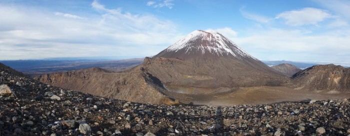This is Mt. Doom from Lord of the Rings, taken from summit of Red Crater