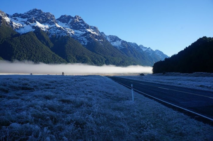 On the way to Milford Sound and Fiordland