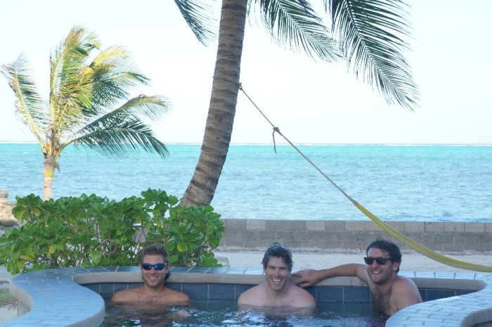 Relaxing at the pool at The Landings at Tres Cocos
