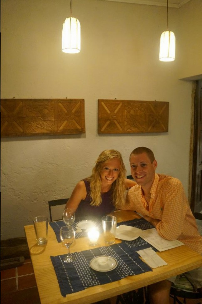 Our two year anniversary dinner at Origami Organic & Oriental. Yes, we were craving some Asian cuisine!