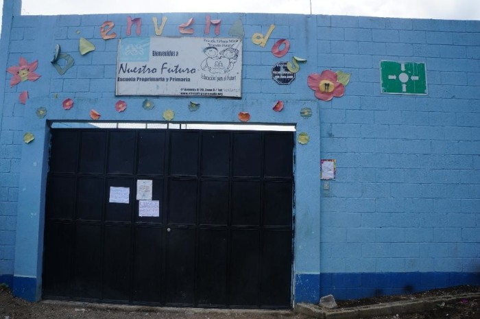 The entrance to the Ninos de Guatemala school we visited.