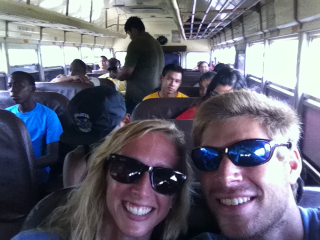 We felt like kids again! A school bus selfie seemed appropriate.