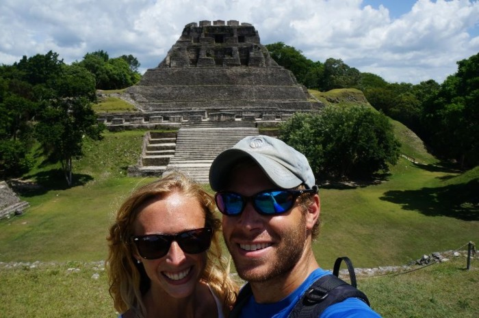 El Castillo (behind us) is the second tallest building in Belize!