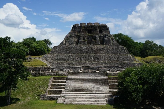 El Castillo was thought to serve as a multipurpose room for the Mayans as opposed to being used for burials as they have yet to find any human remains in the ruin. Also, can you find Brian??