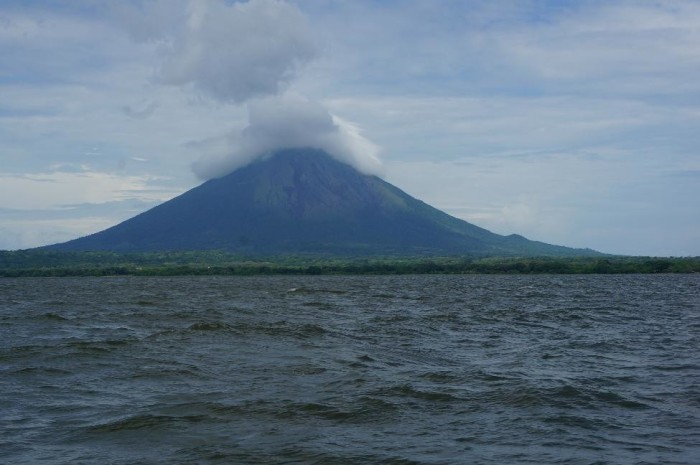We had a nice view of our upcoming challenge on the boat ride to Ometepe