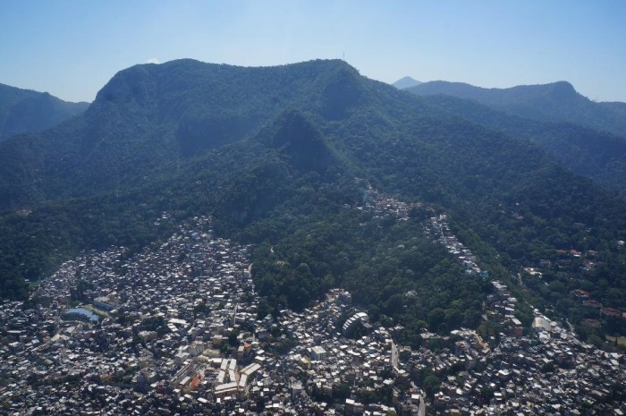 View of one of the favelas on the way up