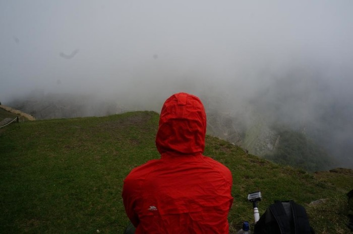 Our view of Machu Picchu started a little foggy..