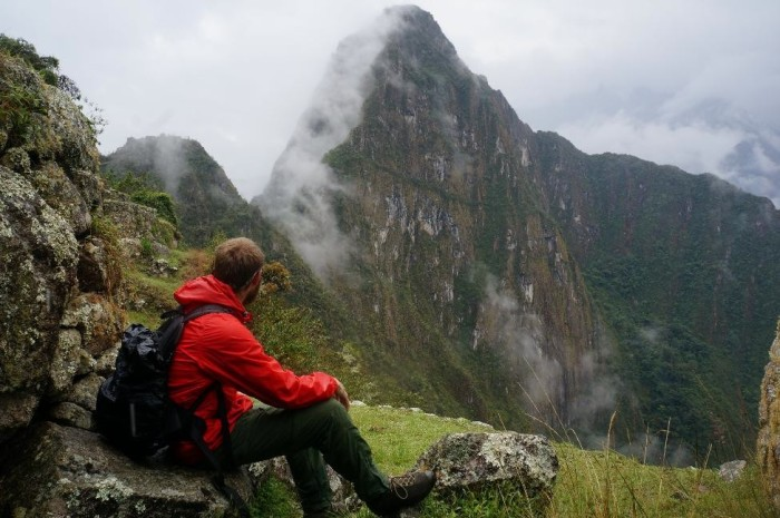 Brian admiring Huayna PIcchu which stands at almost 9,000 feet high.