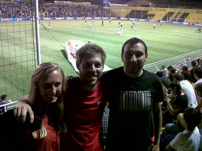 Futbol match in Bahia Blanca