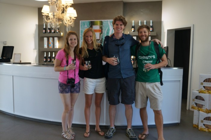 With our friends Katy and Seamus at Chandon winery in Lujan